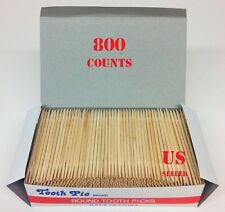 800 Toothpicks Oral Tooth Pick Wooden Double Pointed Catering Party HIGH QUALITY