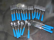 22 Pcs Reed & Barton Select Stainless Flatware Monet Blue