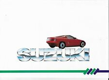 SUZUKI range brochure ( RS/1 concept, SWIFT GTI GLX ALTO & SJ410 - 1986 - MINT