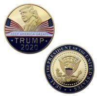 Trump 2020 Presidential Election Medal Coin - POTUS Gold Donald Republican Ameri