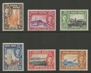 HONG KONG 1941 CENTENARY OF BRITISH OCCUPATION(6)  S.G No 163-168 MNH**