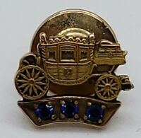 Vintage GM Fisher Body 10k Gold Service Pin Stage Coach Tie Tack Lapel Pin