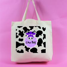 Cow Bag – Cow Print Large Tote Bag - Neutral Colour - animal lover