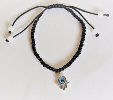 Hamsa Black Bracelet Evil Eye Charm Kabbalah Hand Of Fatima Judaica Chamsa Jade