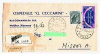 1954 - Patto Atlantico - lire 60  -  per Misano Adriatico  nel 1954
