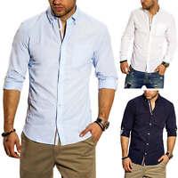 Jack & Jones Herren Langarmhemd Businesshemd Herrenhemd Business Hemd Unifarben