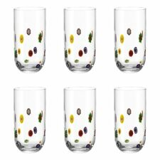 Set of Six Leonardo Millefiori Tall Glass/Tumblers