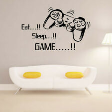 Eat Sleep Game vinyl wall art stickers,gamer xbox ps3 Bedroom Boys Girls Decal