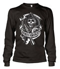 SONS OF ANARCHY SOA NEUF Taille S M L XL T-shirt Noir manches longues motard
