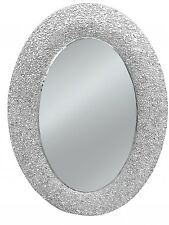 TABLES & CHAIRS oval mirror silver mirror frame glittery 628