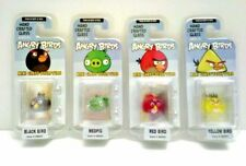 Angry Birds 4 Mini Glass Sculptures Red, Black, Yellow Birds, and Green Med Pig