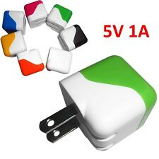 Foldable PIN AC Wall Charger Adapter 5V 1A Dual USB For iPhone Android HTC