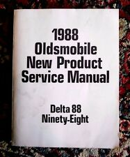 Oldsmobile 1988 New Product Service Manual, Delta 88,Ninety-Eight