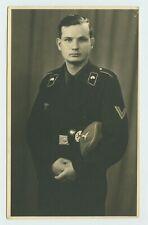 ORIGINAL WW2 GERMAN PHOTOGRAPH - PANZER CREWMAN PORTRAIT