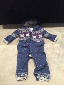 Reindeer Xmas Baby Jumpsuit One Size Body Suit 6-9months baby boy toddler