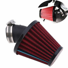 35MM Red Air Intake Filter Pod 45 Degree Bend fit for Motorcycle Scooter ATV PE