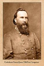 Confederate General JAMES LONGSTREET Civil War Vintage Photograph Card CDV RP