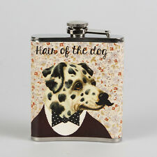 *NEW* Novelty HIP FLASK Stainless Steel HAIR OF THE DOG Retro Vintage