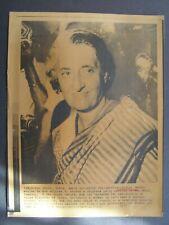 Ap Wire Press Photo 1977 India P M Indira Gandhi smiles after resignation