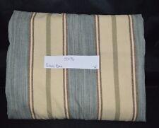 "Pottery Barn Conrad Stripe Lined Drape Curtain Panel 96"" Neutral Blue ivory #42"