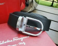 Salvatore Ferragamo classic belt with silver buckle