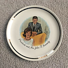 "Vintage 1960's President and Mrs. John F. Kennedy Collectible 9"" Plate Display"