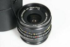 Konica Hexanon 28mm f3.5 Wide Angle Lens AR mount, caps, case