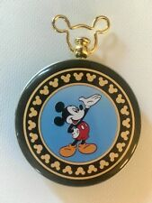 DISNEY MICKEY MOUSE UNLIMITED POCKET WATCH AND TIN VERICHRON QUARTZ EUC