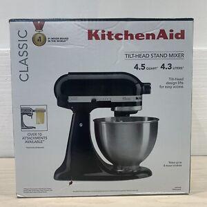 KitchenAid K45SSOB Classic Tilt-Head Stand Mixer 4.5 Quarts Onyx Black NEW