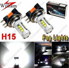 2pcs H15 Xenon White 16 Chips 80W High Power 64176 LED Fog Lights Driving Bulbs