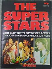 1974 The Super Stars Rock Pop Magazine Book Beatles Stones Bowie Rod Stewart 75