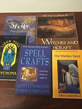 SPELL CRAFTS Cunningham WITCHES TAROT Reed  Green WITCHCRAFT Set x5 Guiley Liber