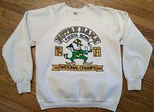Vintage Notre Dame Football Fiesta Bowl 1989 National Champions Sweatshirt Large
