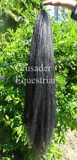 Dyed Black False Tail Double Thickness 90 cm Horse Pony show FREE Reg Post