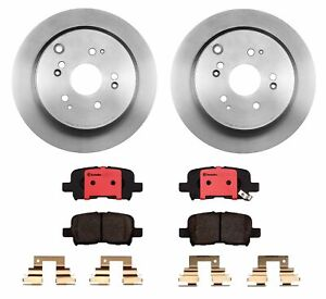 Brembo Rear Brake Kit Ceramic Pads and Disc Rotors For Honda Odyssey 2002-2004