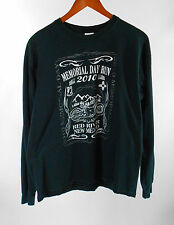 2010 Memorial Day Run Bike Ralley Black L/S Tee Crew Neck Shirt Size L