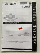 Z-VM240 original AIWA HI-FI Anlage Service Manual