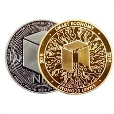 Gold/Silver Plated NEO Commemorative Coin Gift Physical NEOCoin Collection