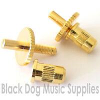 2x Tune-O-Matic guitar bridge height adjusting posts chrome black or gold MB002