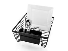 TUFFSTEEL DISH RACK w/ CUTLERY DRAINER HEAVY DUTY METAL DRYING TRAY UTENSIL