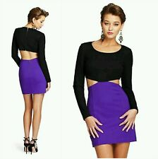 NEW GUESS by Marciano purple and black Litton Ponte Dress size M