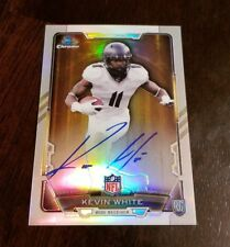 Kevin White Auto 2015 Bowman Chrome Refractor Rookie On Card Autograph BEARS