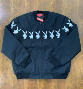 Supreme x Playboy Crew Jacket SS19 Black Large