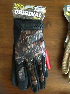 "MECHANIX WEAR ""THE ORIGINAL"", Work, Hunting & Tactical Gloves; M-XL, Mult Colors"