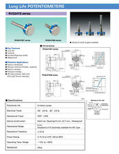 RVQ24YN03 25F B502 Potentiometer, 5K OHM Long Life Panel Pot, COSMOS/TOCOS