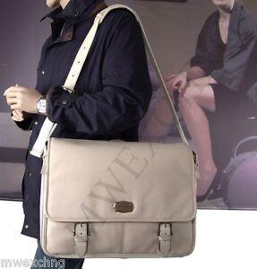 $850 Samsonite Black Label Rare Leather Resort Umbria Ecru Messenger Bag Sale!