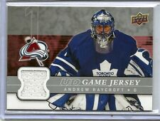 08-09 2008-09 UPPER DECK ANDREW RAYCROFT UD GAME JERSEY GJ-RA MAPLE LEAFS