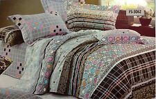 Designer 100% cotton Flat Bed sheets king size with pillow case # 3062