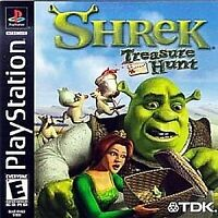 Shrek Treasure Hunt ps1 PlayStation 1 game only 13J kids game ps2