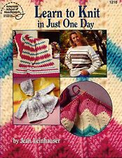 ASN 1210 Learn to Knit in Just One Day Easy Knitting Patterns Afghan Baby 1994